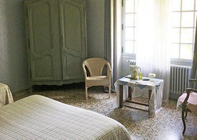 Chambre bleue à Saint Rémy de Provence